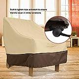 Zerodis Essential Anti-Staub-Terrassenstuhl-Bezüge, strapazierfähig, wasserfest, für Gartenmöbel und Esszimmerstühle 96.5 * 89 * 79cm