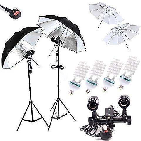 Un Maosen professionnel 4x85w 5500k Daylight Ampoules Photographie Equipmenten studio Light ,Four Light Sockets, 2 X 32