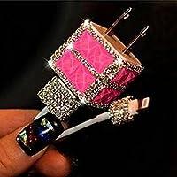 Evtech (TM) caricatore USB a parete 3d strass glitter per batterie Plug