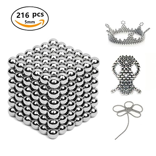 bolas magnéticas 5 milímetros Ø. 216 piezas. Juego de imanes