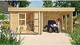 LUOMAN Set: Gartenhaus Lillevilla 485 EcoLounge