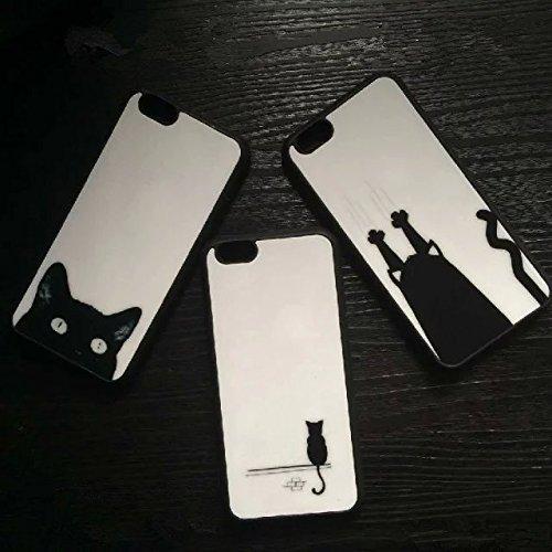 MISSOLY iPhone 6Plus/6S Plus Case, [protezione goccia/Shock Tecnologia di Assorbimento] [polvere tappo] Clear Cover Posteriore Morbida in TPU con motivo per 5,5iPhone 6Plus/6S, Plus Cute Cartoon Co Grasping Wall
