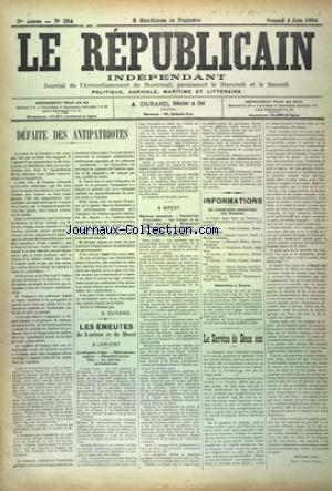 REPUBLICAIN INDEPENDANT (LE) [No 254] du 04/06/1904