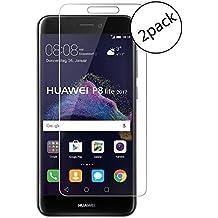 Wrcibo [2-Pack] Huawei P8 Lite 2017 Protector de Pantalla, 9H 0,26mm Premium Vidrio Templado Protector de Pantalla Transparente Cristal Anti-scratch Anti-rasguñe Protector de Pantalla para Huawei P8 Lite 2017 (Nota: no Cubierta Completa)