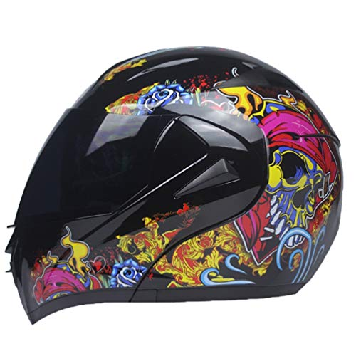 Flip Up Motorradhelme Erwachsene Dual Visier System Anti Fog Wind Sand Full Face Motorrad Helm Outdoor Sicherheit Caps Hut für Motocross Mountainbike Racing