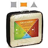 Purovi® Sonnensegel Rechteck | Verschiedene Größen | UV Schutz | wasserabweisendes PES | Größe 2 x 3m