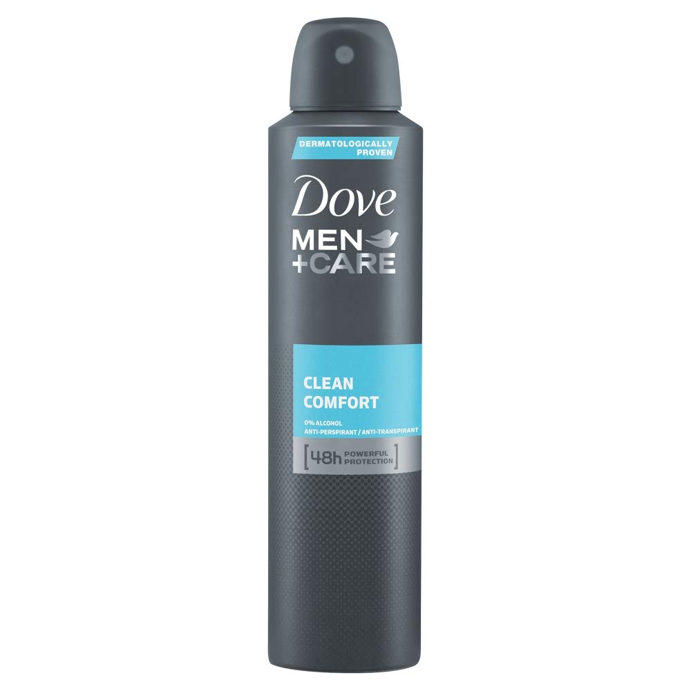 Dove Men+Care Clean Comfort Aerosol Antiperspirant Deodorant, 250 ml