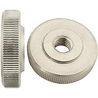 Rändelmuttern ( niedrige Form ) - M8 - ( 2 Stück ) - DIN 467 - rostfreier Edelstahl A1 (VA) / NIRO - SC467   SC-Normteile