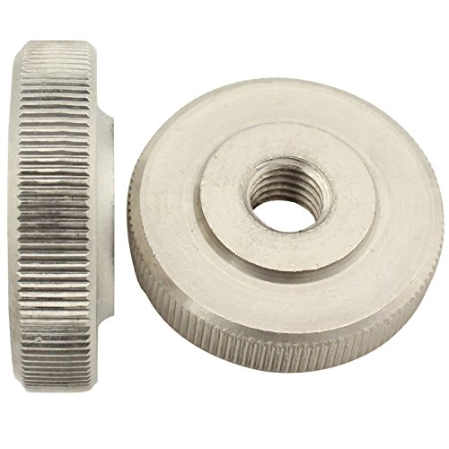 Rändelmuttern ( niedrige Form ) - M4 - ( 2 Stück ) - DIN 467 - rostfreier Edelstahl A1 (VA) / NIRO - SC467 | SC-Normteile
