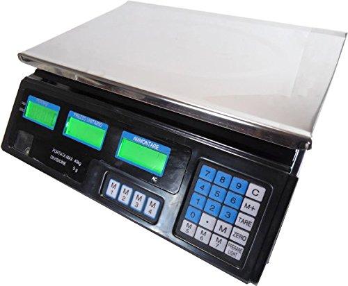 Tiempo de palloncini Báscula Electrónica digital profesional min. 5gr Max. 40kg división 5gr