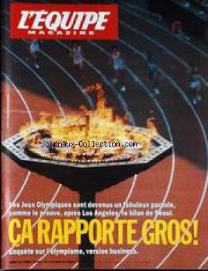 EQUIPE MAGAZINE (L') [No 423] du 07/10/1989 - LES JEUX OLYMPIQUES SONT DEVENUS UN FABULEUX PACTOLE. par Collectif