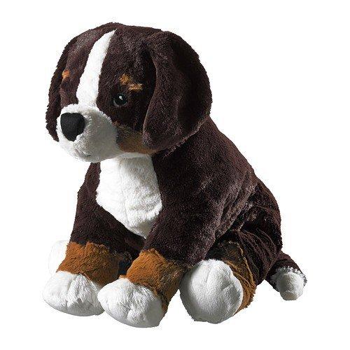 Ikea 4054673250879 Stofftier Hund HOPPIG Plüschtier Welpe-49x19cm groß-sehr kuschelig-maschinenwaschbar-SICHERHEITSGETESTET (Hunde Stofftiere)