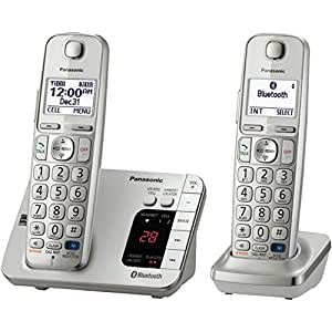 Panasonic KX-TGE262S Link2Cell Bluetooth Enabled Phone with Answering Machine & 2 Cordless Handsets by Panasonic