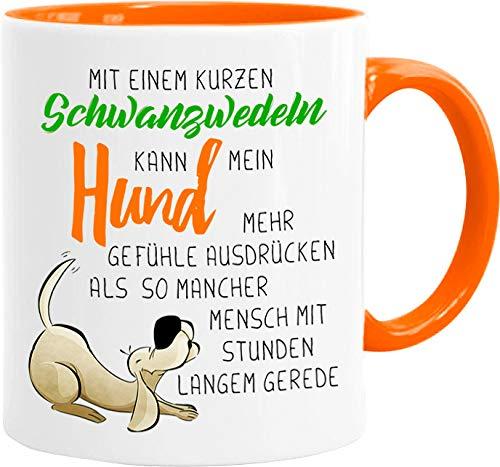 Cadouri Hunde Tasse » Schwanzwedeln « Kaffeetasse Bürotasse Sprüchetasse - 300 ml