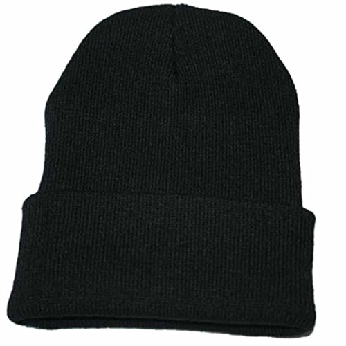 VJGOAL Unisex Slouchy Knitting Solid Beanie Hip Hop Cap Warm Winter Ski Hat