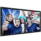 ELEPHAS Schermo di proiezione Portable Indoor Outdoor 100 pollici, 16: 9 Aspect Ratio School Home Cinema 4K Pieghevole per schermo