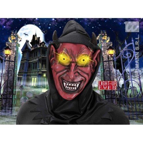 WIDMANN Kapuzenmasken Teufelsmasken mit Licht - Up Eyes Masken & Verkleidungen für Maskenade, Kostüm-Zubehör