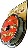 WFT KG STRONG Schnur 300m 0,08mm 10kg, Angeln auf Raubfisch, Raubfischschnur, Meeresschnur, Schnur zum Spinnfischen, Angelnschnur für Raubfisch, Farbe:Grün