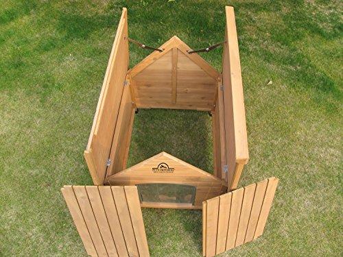 XL Sussex Hundehütte Aus Holz Mit Entfernbarem Boden Zur Einfachen Reinigung B - 4