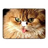 Katzen 10010, Braune Katze, Skin-Aufkleber Folie Sticker Laptop Vinyl Designfolie Decal mit Ledernachbildung Laminat und Farbig Design für Apple MacBook Pro Retina 15