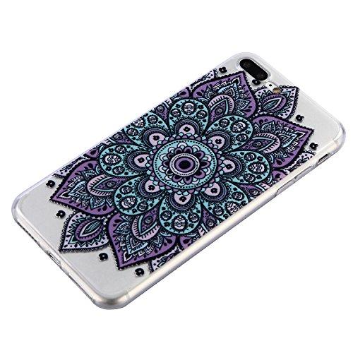 iPhone 7 Plus Hülle, Voguecase Silikon Schutzhülle / Case / Cover / Hülle / TPU Gel Skin für Apple iPhone 7 Plus/iPhone 8 Plus 5.5(Teppich 12) + Gratis Universal Eingabestift Teppich 12