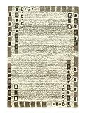 Rivoli - 6903-172-060 - beige-braun - Bordüren-Teppich Kästchen - 80 x 150 cm - Vorleger, Läufer, Gallerie, Teppich - Der Webteppich Rivoli lädt mit seiner flauschig weichen Haptik zum Verweilen ein und ist nicht nur in 6 warmen Uni-Farbtönen, sondern auch in 3 Designs und 2 Farbstellungen erhältlich.