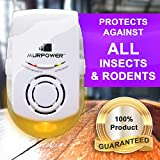 Murpower® Powerful Indoor Plugin Pest Repeller with Night Light - Eliminate All Types of Insects and Rodents - 100% Safe for Humans and Pets Plug-in Pest Repeller (1, Yellow)