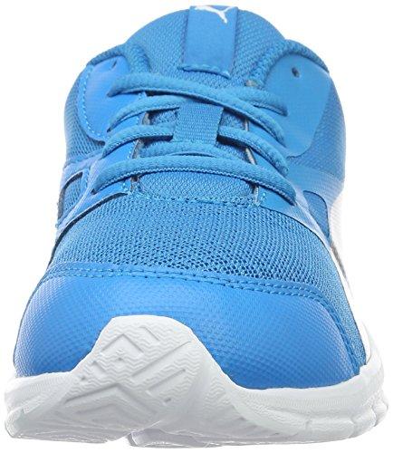 Puma Flexracer Ps, Sneakers Basses Mixte Enfant Bleu (Blue Danube-puma Silver 10)