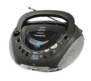 Tamashi DX B16 BK Lecteur CD / mp3 Tuner analogique FM Stéréo Port USB Noir