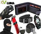 V-Luma Combo of 7 Pcs Leather Black Wall...