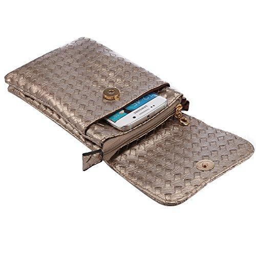 Newnet Mini borsetta a tracolla messenger, per telefonini con dimensioni inferiori ai 18,3cm (6S Plus 6G Plus A8N5N4S6Edge+), Black (nero) - F1029600 Dark Gray