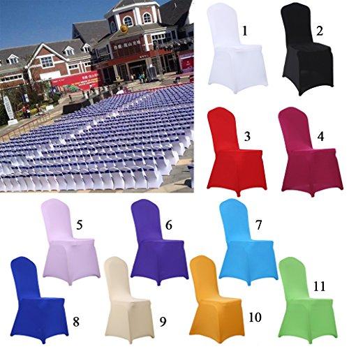 Preisvergleich Produktbild Generic Spandex Stuhlhusse Stuhlbezug Überzug Stuhlabdeckung Hochzeit Partei Wohnzimmer Dekor , verschiedenen Farben - Rot, 40x90cm