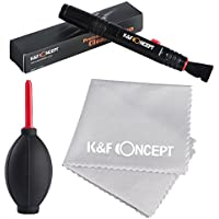 K&F Concept® Objektiv Reinigungsset 3er Foto Reinigungsset für DSLR Kamera Objektive Filter Handys mit Lenspen Reinigungspinsel Blasebalg Mikrofasertuch