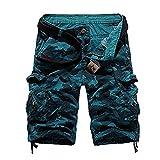 Sunshey Shorts Bermuda 1/2 Herren Sommer Vintage Look 2018 Freizeit Hose Kurz (Blau, 30)