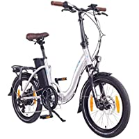 NCM Paris Bicicleta eléctrica Plegable, 250W, Batería 36V 15Ah • 540Wh (Plateado)