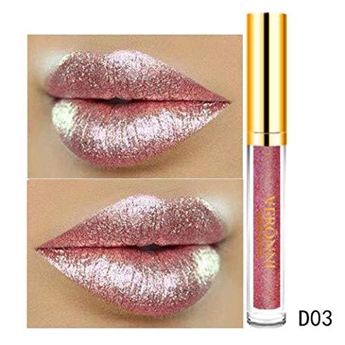 Brillant à Lèvres femme,Fulltime 10 couleurs 6ml femmes glitter magie flip rouge à lèvres Flip pull mat brillant à lèvres (03)