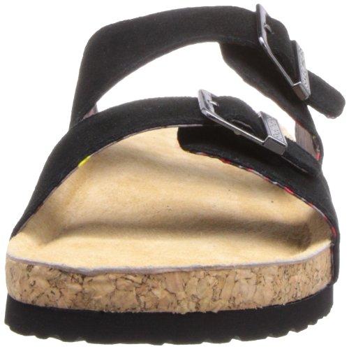Skechers Memory Foam Doppel Strap Sandale Schwarz