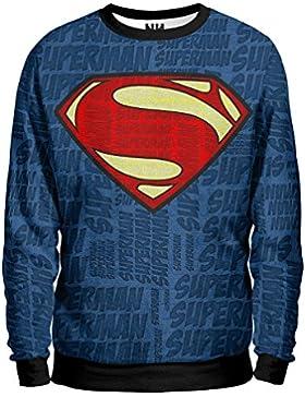 Noorhero - Felpa Uomo - Blue Superman
