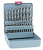 Bohrer/Spiralbohrer Set HSS Cobalt KM 25, 25-teilig | kobaltlegierte Spiralbohrer mit sehr hoher thermischer Belastbarkeit, selbstzentrierend, punktgenau, bruchsicher | Ø 1-13 mm, je 0,5 mm stg.