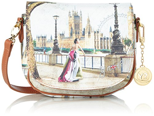YNOT Sella, Borsa a Tracolla Donna, 19.5x21x7 cm (W x H x L) Multicolore (Amazing London)