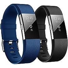 Fitbit Charge 2 Correa, Hanlesi TPU Silicona Pulsera Ajustable Banda de Accesorio Correa de Deporte Para Fitbit Charge 2 Fitness Wristband