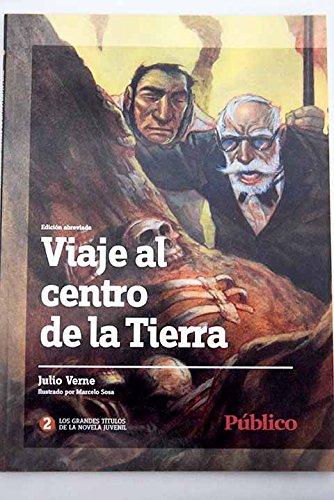 VIAJE AL CENTRO DE LA TIERRA Coelcción Hetzel. Estampado en dorados. Ilustrado en b/n por M. Riou.