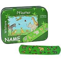 Unbekannt 20 Pflaster mit Wildtiere incl. Name - Motiv in Metall Box - Pflasterbox Dose bunt Kinderpflaster Giraffe... preisvergleich bei billige-tabletten.eu