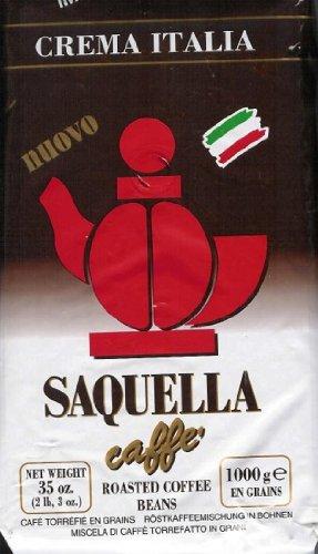 Saquella Kaffee Espresso - Crema Italia, 1000g Bohnen