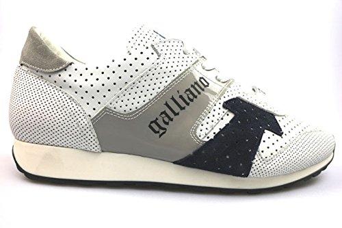 schuhe-herren-galliano-45-sneakers-weiss-wildleder-leder-as777
