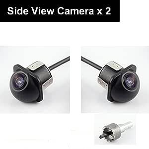 E Kylin Auto Rückfahrkamera Für Vorder Seiten Rückfahrkamera Mit 6 M Cinch Video Verlängerungskabel Und 1 2 M Dc2 1 Mm Netzkabel Plug And Play Automatische Nachtsicht Elektronik