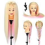 Neverland Beauty Übungskopf für Friseure, mit dickem, 66cm langem Haar, synthetisch