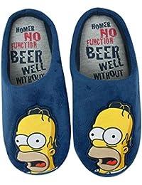 The Simpsons - Zapatillas de estar por casa para hombre azul azul