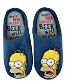 Il Simpsons Mens 'Homer Simpson No Function' Pantofole di mulo (S)
