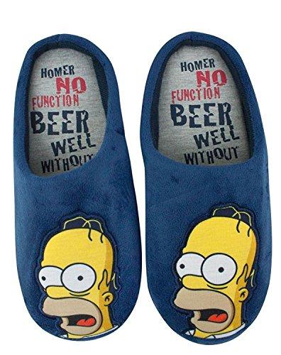 """Simpsons Hommes """"Homer Simpson Sans Fonction"""" Mule Chaussons (M)"""